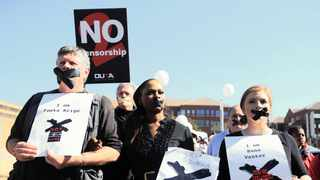 Foeta Krige, Thandeka Gqubule and Suna Venter were among eight SABC journalists fired for questioning an executive decision not to air footage of violent service delivery protests. File picture: Itumeleng English