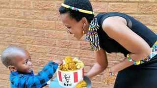 For little Nkosinathi, his third birthday was made extra special by the surprise. Picture: @MotloutsiShimmy/Twitter