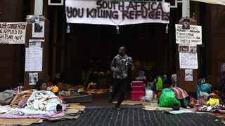 Foreign Nationals in South Africa camping outside the United Nations High Commission for Refugees (UNHCR) in Cape Town. Picture: Phando Jikelo/African News Agency(ANA)
