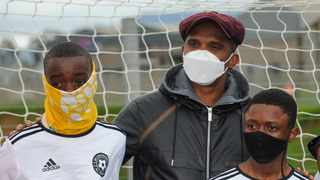Former Barcelona and Cameroon football legend Samuel Eto'o unveiled the Eto'o by Fives Legacy Pitch in Strand. Photo: Henk Kruger/African News Agency(ANA)