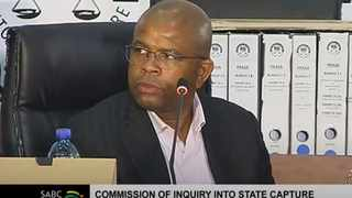 Former Prasa group chief executive Lucky Montana appeared at the Zondo commission. Screengrab.SABC/YouTube