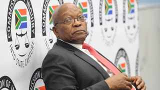 Former President Jacob Zuma seated at the witness table on the first day of his apprearance at the Zondo Commission. Picture: Karen Sandison/African News Agency(ANA)
