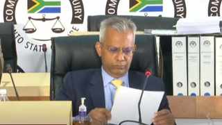 Former Transnet chief financial officer (CFO) Anoj Singh is appearin at the Zondo commission on Thursday. Screengrab: SABC/YouTube