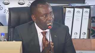 Former minister of mineral resources Mosebenzi Joseph Zwane appearing at the Zondo Commission. Picture: Se-Anne Rall