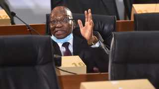 Former president Jacob Zuma at the Zondo Commission of Inquiry into allegations of state capture. Picture: Itumeleng English/African News Agency(ANA)