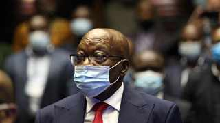 Former president Jacob Zuma in the Pietermaritzburg High Ccourt where he facing fraud, corruption and racketeering charges. Picture: Doctor Ngcobo/African News Agency (ANA).