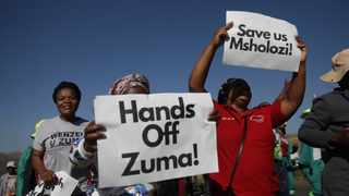 Former president Jacob Zuma's supporters protesting against his arrest at his Nkandla homestead. Picture: Bongani Mbatha/African News Agency (ANA).