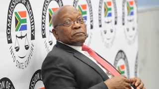 Former president Jacob Zuma seated at the witness table at the Zondo Commission. File picture: Karen Sandison/African News Agency(ANA)