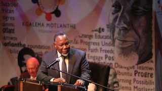 Former president Kgalema Motlanthe speaks at a dialogue on Democracy Works at The Market Theatre in Newton. Picture: Nhlanhla Phillips/African News Agency(ANA).