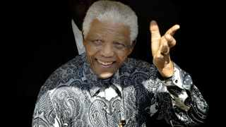 Former president Nelson Mandela is seen at his home in Cape Town in 2008. File photo: Rodger Bosch/AFP