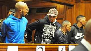 From left are Vernon Witbooi, Geraldo Parsons, Eben van Niekerk and Nashville Julius. The trial of the men relates to the kidnapping and rape of Hannah Cornelius. Picture: David Ritchie/African News Agency (ANA)