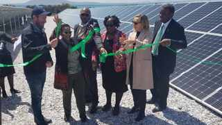 From left to right: Sola Future CEO Dr. Dominic Wills, Tourism Minister Tokozile Xasa, Robben Island Museum CEO Mava Dada, Deputy Minister of Tourism Elizabeth Thabethe, Robben Island Museum Council Member Laura Robinson, and Director-General of Tourism Victor Tharage. Picture: Supplied