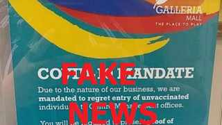 Galleria Mall management said the poster has been misunderstood and does not apply to shoppers.