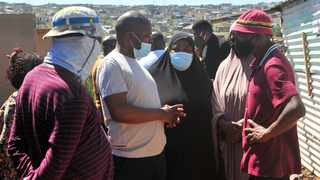 Gauteng Cogta MEC Lebogang Maile visits the Mhlahla family in Atteridgeville whose home was wrongfully demolished by the Red Ants in 2017. Picture: Oupa Mokoena/African News Agency (ANA)