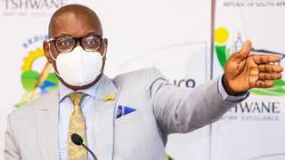 Gauteng Premier David Makhura and Gauteng comand council briefing the media on the update of the COVID-19 Pandemic in Gauteng.Photo Thomas Chauke.