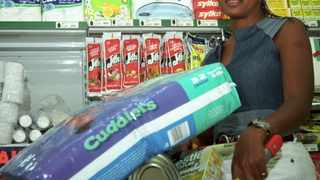 Georgina Peter shopping at shopritein Braamfontein,not happy at all with the prizes.
