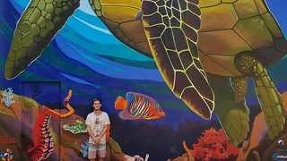 Giffy Duminy outdid himself with a mural that he painted at  WESSA Treasure Beach education centre on Treasure Beach in Durban. Picture supplied.