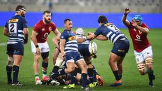 Godlen Masimla of the Stormers kicks the ball from a scrum during their game against the British & Irish Lions at the Cape Town Stadium on Saturday. Photo: Phando Jikelo/African News Agency (ANA)
