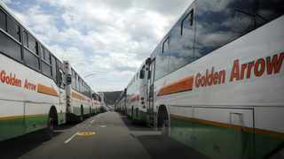 Golden Arrow buses parked in District Six. Photographer: Armand Hough/African News Agency(ANA)
