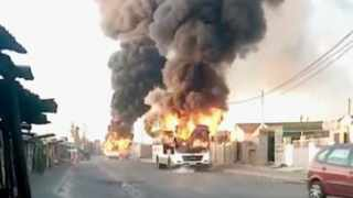Golden Arrow spokesperson Bronwen Dyke-Beyer said two of their buses were set alight on Thursday morning in the Makhaza area in Khayelitsha. Picture: Supplied / City of Cape Town