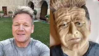 Gordon Ramsay roasts baker who tried to make a cake of his face. Picture: TikTok