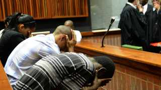Harvey Isha, Robin Harwood, Linden Wagner and Courtney Daniels during their trial for the murder of teenager Kirsty Theologo. File picture: Dumisani Sibeko
