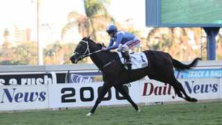 Hawwaam and jockey Anton Marcus at the Daily News 2000 at the Greyville Racecourse. File picture: Motshwari Mofokeng/African News Agency (ANA)