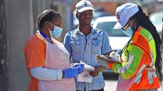 Health workers in Town Two in Khayelitsha doing home screening for Covid-19. Picture: Phando Jikelo/African News Agency (ANA)