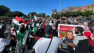 Hundreds showed up to join the Palestine Solidarity Campaign Cape Town (PSC-Cape Town) as they march Parliament, in Cape Town CBD, on Tuesday. Picture: Supplied
