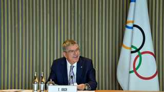 IOC President Thomas Bach attends an Executive Board meeting of the International Olympic Committee (IOC) in Lausanne, Switzerland, October 7, 2020. Christophe Moratal/IOC/Handout via REUTERS THIS IMAGE HAS BEEN SUPPLIED BY A THIRD PARTY. NO RESALES. NO ARCHIVES
