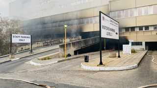In April, Charlotte Maxeke Academic Hospital closed after a fire gutted parts of the facility, destroying more than R40 million worth of stock, largely personal protective equipment. Picture: Gauteng Department of Health.
