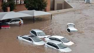 In this file picture, cars are submerged under water after flooding in Centurion. Picture: Oupa Mokoena/African News Agency (ANA)