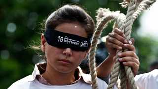 Indian youth protest in New Delhi after an Indian court convicted four men of the gang rape and murder of a student on board a moving bus in a crime that sickened the nation.