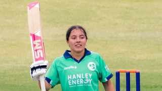 Ireland's Amy Hunter celebrated her 16th birthday by becoming the youngest player to score an international century in their women's ODI against Zimbabwe in Harare. Photo: @cricketireland/Twitter