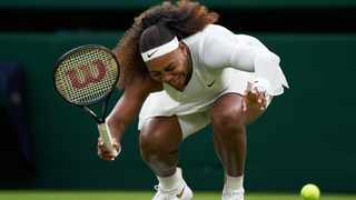 It is the first time that Serena Williams has bowed out in the first round of Wimbledon. Picture: Peter Van den Berg/USA TODAY Sports via Reuters