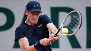 Italy's Jannik Sinner in action during his French Open third round match against Sweden's Mikael Ymer. Photo: Benoit Tessier/Reuters