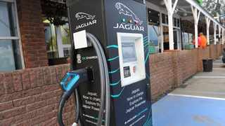 JAGUAR electric recharge station at the Harrismith rest area just off the N3. High taxes on EV imports – 25 percent versus 18 percent for internal combustion vehicles – hamper the adoption of electro-mobility,says the author. Picture: Karen Sandison, ANA.
