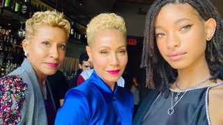 Jada Pinkett Smith with her daughter Willow Smith and her mom. Picture: Instagram