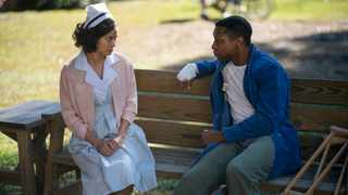 Jamie Chung, left, with Jonathan Majors in 'Lovecraft Country,' considers her recent portrayal of Ji-Ah in the supernatural drama to be a 'liberating' turning point in her career. Picture: HBO