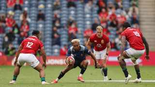 Japan's Kotaro Matsushima in action during their Test match against the British and Irish Lions at Murrayfield in Edinburgh on Saturday. Photo: Lee Smith/Reuters