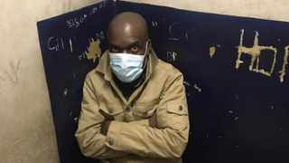 Jeffrey Moyo in Harare's Central Police Station on Thursday ahead of his transfer to Bulawayo. Picture: Doug Coltart.