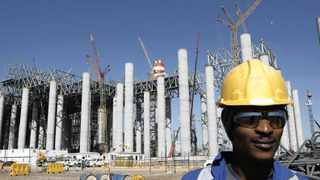 Jeffrey Tapala, a construction worker at Medupi power station, which is under construction. A new power station will be the fifth to operate from Limpopo and is set to provide power to industry in the area. Picture: Leon Nicholas.