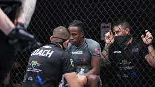 KZN and South African silver medalist, Sipho Mlaba - who made the SA squad - gets some advice from Kwa-Zulu Natal and now South African Head coach, William Oberholzer and former EFC champion, Dallas Jakobi during the MMASA Nationals in Edenvale earlier this year. Photo: MzansiMMA