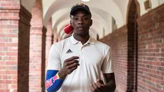 Kagiso Rabada is seen playing corridor cricket with students at UCT, Cape Town on March 14, 2019