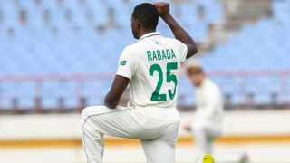 Kagiso Rabada took first first five-wicket haul in since 2018 when he bowled the Proteas to victory on the third day of the first Test against the West Indies. Picture: West Indies Cricket