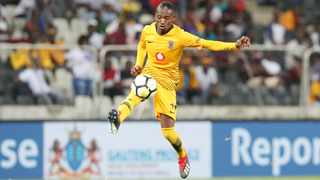 Khama Billiat has a hip adductor muscle strain and will miss the second leg of the Caf Confederation Cup clash against Elgeco Plus. Photo: Muzi Ntombela/BackpagePix