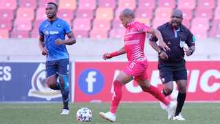 Kurt Lentjies of Chippa United during the 2020/21 Promotion Playoff. Photo: Michael Sheehan/BackpagePix