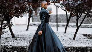 Lasizwe Dambuza wearing an outfit inspired by Billy Porter. Picture: Instagram/@lasizwe