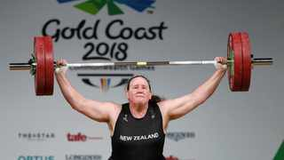 Laurel Hubbard of New Zealand competes. Photo: Paul Childs/AFP