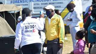 Law enforcement officers and Health officials conduct Covid-19 screening and testing on the N12 provincial border for all motorists and passengers returning to Gauteng. File Picture: Itumeleng English/African News Agency(ANA)